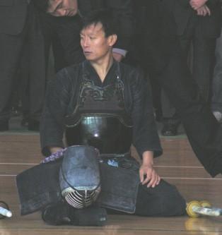 제1회성동구청장기검도대회 시범경기- 보륜 의 강우철사범님모습